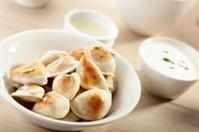hot dumplings on the dish