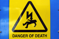 Danger of death Electric shock sign