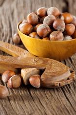 Hazelnuts with nutcracker
