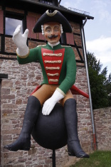 Lying Baron Muenchhausen in Bodenwerder