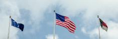 south  , north carolina and usa flag