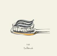 7:02 toothbrush - drawing