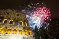 Fireworks near the Colosseum - Rome