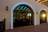 fully open hallway of resort