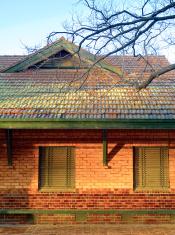 old orange brick building