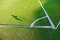 Conner of soccer field