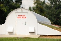 Tornado safe room in community