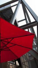 red restaurant umbrella