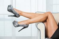 Woman´s legs in fancy platform High Heels Shoes