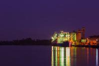 twilight cargo shipping boat