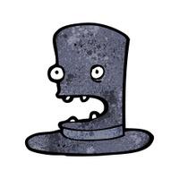 funny cartoon top hat