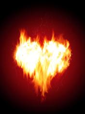 Blazing heart