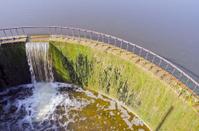 lake dam in midsummer