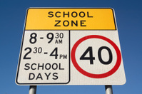 School Zone in Australia