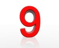 red number nine
