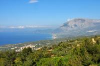 coast and landscape of greek island Samos