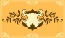 Ornament design element cartouche coat of arms