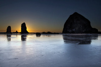 Haystack Rocks and the Needles at Cannon Beach