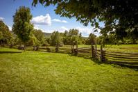 Rail Fence On Farm