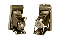 Vintage folding cameras