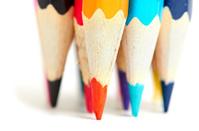 Colored pencils macro