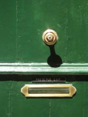 Brass Door Knob and Letterbox