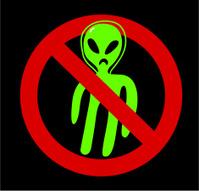 No aliens allowed!