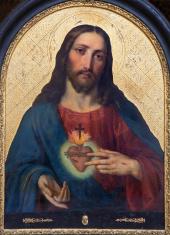Vienna - Heart of Jesus paint