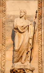 Milan - apostle statue from west facade of Duomo