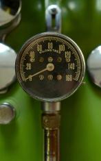 Vintage Green Speedometer