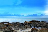 skerries on the beach