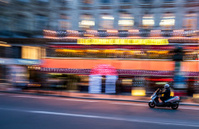 Motorcyclist on paris street