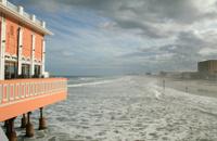 Daytona Boardwalk Building and Beach
