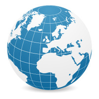 World Globe - Europe