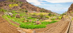 Green valley of Tarrafal de Monte Trigo - Cape Verde