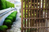 entrance of japanese residential estate