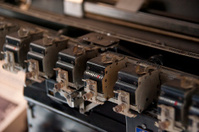 old vintage printer - alte Druckmaschine