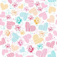 Spring Doodles Seamless Pattern