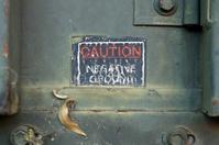 Caution Negative Ground