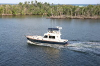Small yacht in the Florida Everglades
