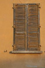 Old shutters of a window