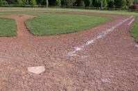 Empty Baseball Diamond