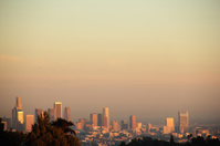 Los Angeles California Downtown Buildings Sunset