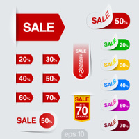 Sales badge, sticker vector design. Discount sale collection