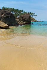 Tropical beach Palolem. Goa, India