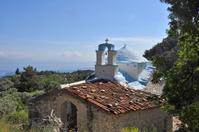 old greek chapel on samos island