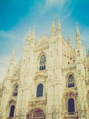 Retro look Duomo di Milano