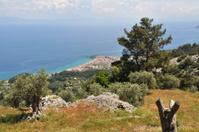 Samos island landscape, greece