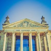 Retro look Reichstag, Berlin