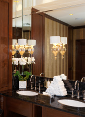 Restroom in hotel or restaurant
